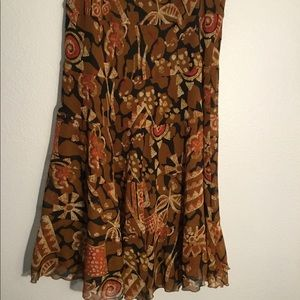 Ruby Rd brown patterned skirt. Size 10P.